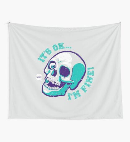 [badumtees] i'm fine Wall Tapestry
