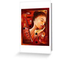 Casselopia - Violin dream Greeting Card
