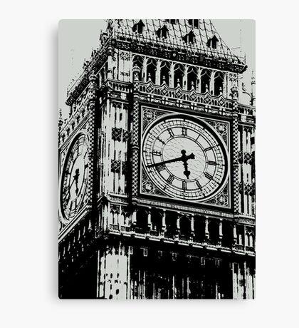 Big Ben Face - Palace of Westminster, London  Canvas Print