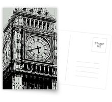 Big Ben Face - Palace of Westminster, London  Postcards