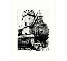 London Composite Pen and Ink Art Print