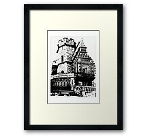 London Composite Pen and Ink Framed Print