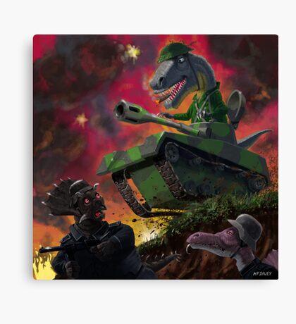 Dinosaur War 01 Canvas Print