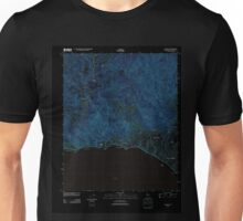 USGS TOPO Map California CA Topanga 20120405 TM geo Inverted Unisex T-Shirt