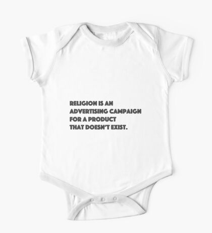 Religion is an Advertising Campaign... One Piece - Short Sleeve