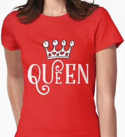 Queen Crown  Womens Fitted T-Shirt