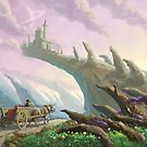Planet Castle on arch by martyee