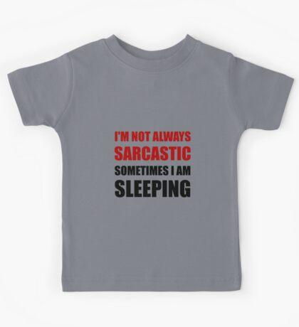 Always Sarcastic Sleeping Kids Tee