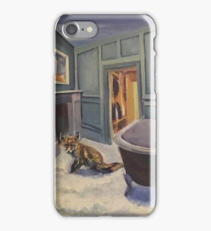 Fox in the bathroom iPhone Case/Skin