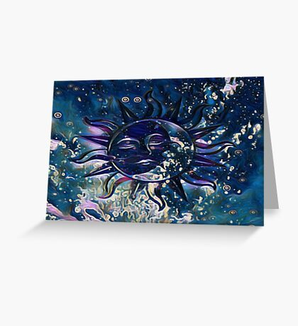 Dream Escape Sun Moon Greeting Card