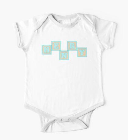 Baby Henry in alphabet building blocks One Piece - Short Sleeve