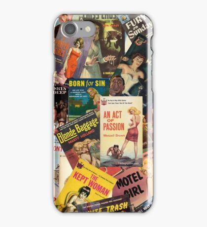 Femme Fatale Book Cover Montage part 2 iPhone Case/Skin