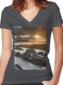 Rush / County Dublin / Ireland Women's Fitted V-Neck T-Shirt