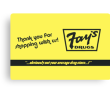 Fay's Drugs | the Immortal Yellow Bag Canvas Print