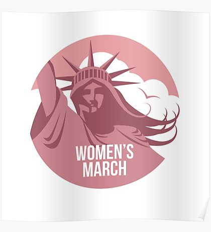 Women's March on January 21 to protest Trump's presidency. Poster