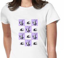 Pandas Checker - Purple Womens Fitted T-Shirt