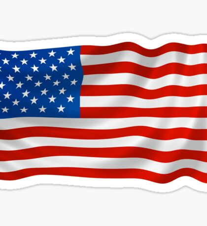 USA Flag Wave Sticker