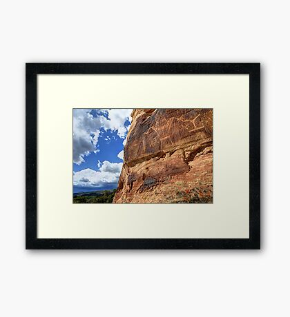 McConkie Ranch Petroglyphs - Dry Fork Canyon - Vernal - Utah Framed Print