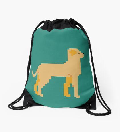 Labrador Pixel Drawstring Bag