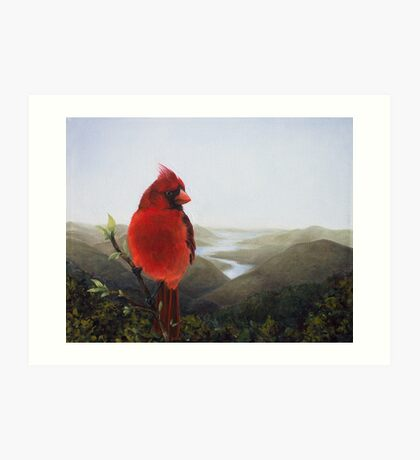 Cardinal in the Valley Art Print