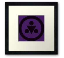 Shadow Medallion (large) Framed Print