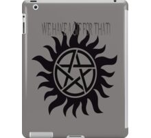supernatural has a gif for everything iPad Case/Skin