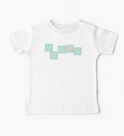 Baby Mario in alphabet building blocks Baby Tee