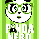 Panda Nerd Girl - Green by Adamzworld