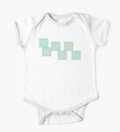 Baby Martin in alphabet building blocks One Piece - Short Sleeve