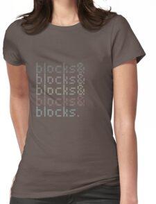 Minecraft Blocks& Womens Fitted T-Shirt