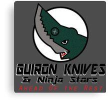 Guiron Knives & Ninja Stars Canvas Print