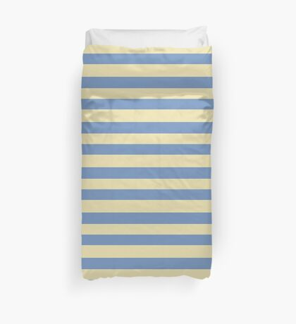 Blue & Yellow Stripes Duvet Cover