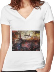 Dragon Realms VII Women's Fitted V-Neck T-Shirt