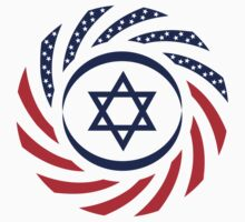 Israeli American Multinational Patriot Flag by Carbon-Fibre Media