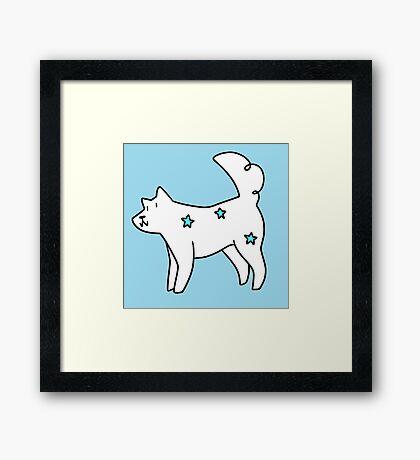 White Star Dog Framed Print