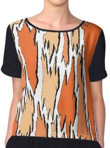 Bark - orange Women's Chiffon Top