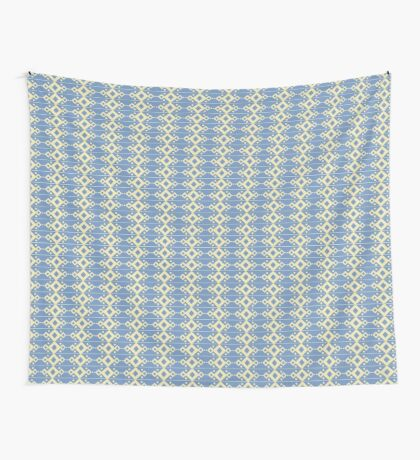 Diamonds Blue & Yellow Wall Tapestry