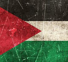 Vintage Aged and Scratched Palestinian Flag by Jeff Bartels