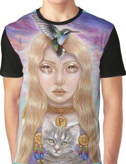 Wunjo Rune Maiden Graphic T-Shirt