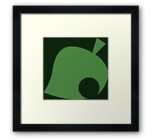 Animal Crossing Leaf Framed Print