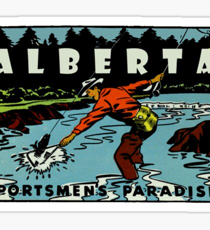 Alberta Fly Fishing AB Vintage Travel Decal Sticker