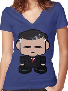 Mitt Romneybot 1.0 Women's Fitted V-Neck T-Shirt
