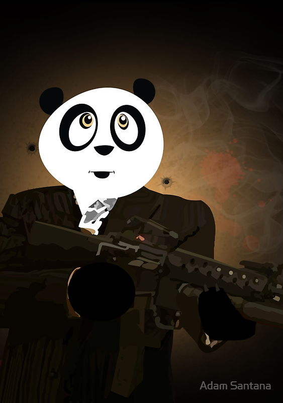 Panda Gangster by Adamzworld