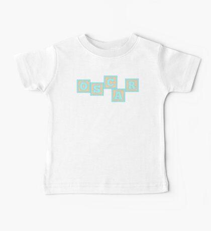 Baby Oscar in alphabet building blocks Baby Tee