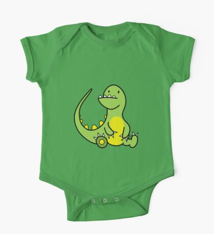 The Little Fat Dino One Piece - Short Sleeve