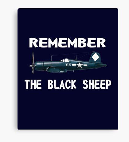 Corsair WWII History Black Sheep Squadron - Jet Pilot Canvas Print