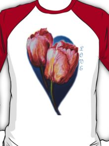 Tulips and butterfly T-Shirt