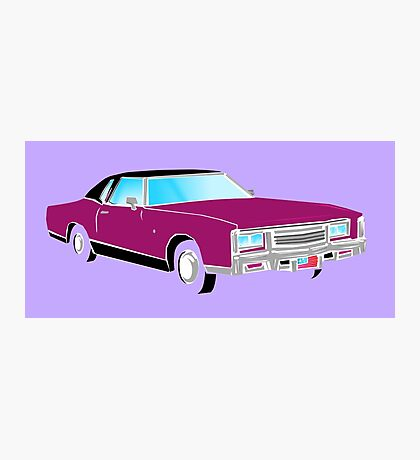 American Car - PURPLE Photographic Print