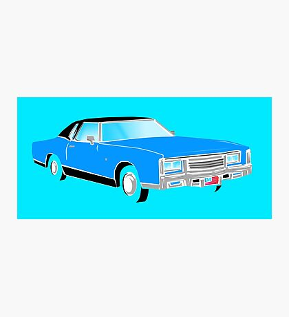 American Car - BLUE Photographic Print