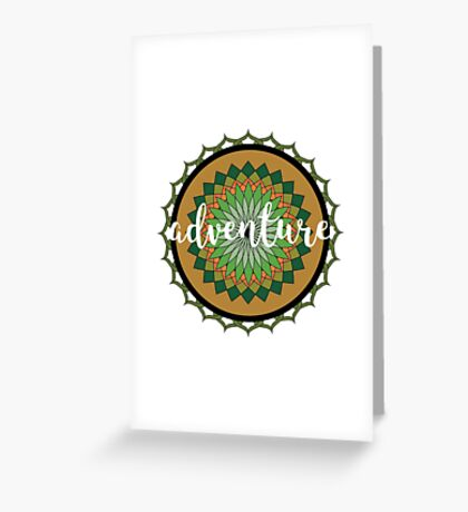 Adventure Mandala Greeting Card